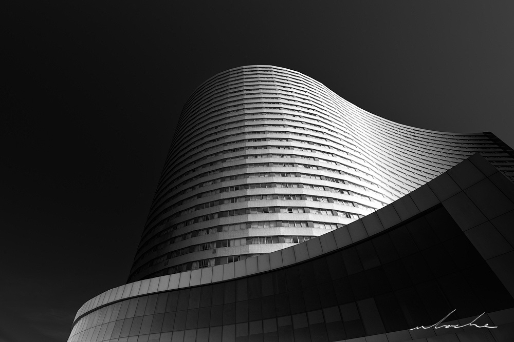 John Ross Building in Black and White