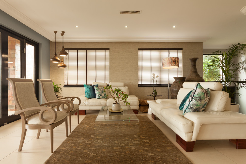interior architectural photography of a modern lounge