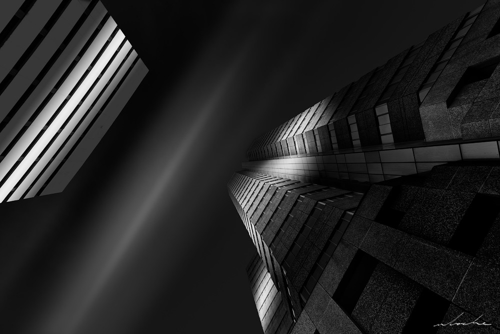 Black and White Architectural photograph of the Sanlam Embassy building in Durban