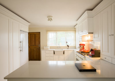 Interior photography of a colonial style modern kitchen