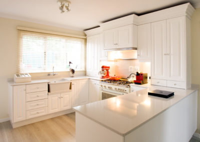 Interior photography showing a colonial style modern kitchen