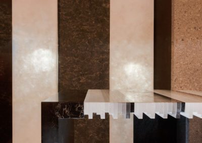 Detail photograph of a caesarstone countertop