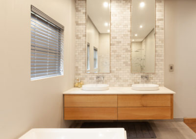 Interior photography of a modern bathroom