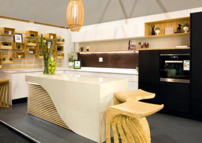 Photograph of a modern kitchen at Decorex 2018