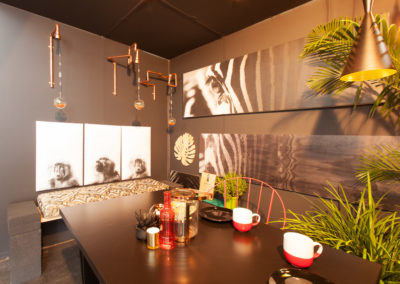 Interior photography of a design stand at Decorex 2016