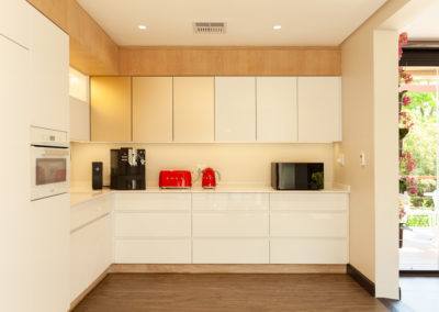 Interior photography of a company's kitchen