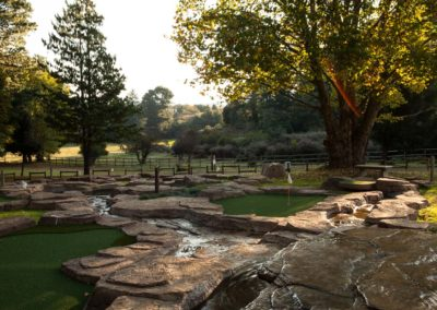 The mini golf course at a Holiday Resort in the KZN Midlands