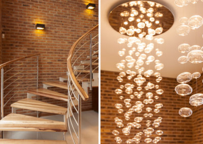 Staircase and staircase lighting in detail