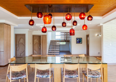 Interior photography of an open plan dinning area