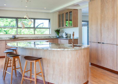 Interior photography of a contemporary, open plan kitchen
